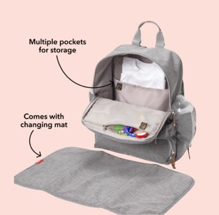 Grey Nuby travel changing bag.