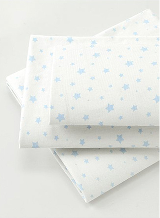 White star print sheets