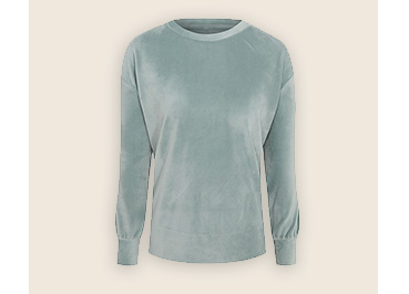 Teal coloured sweater