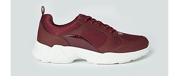 Burgundy trainers