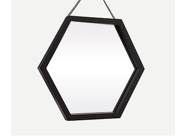 Black hexagonal mirror