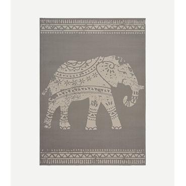 Grey elephant rug
