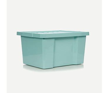 Blue storage box