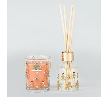 Christmas candle and reed diffuser