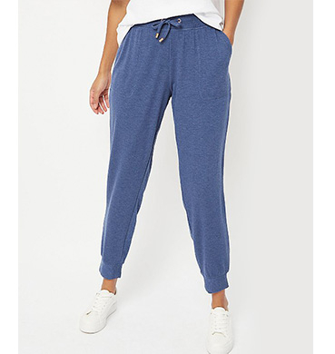 Blue jogging bottoms