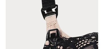 Close up shot of adjustable bra strap