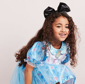 World Book Day 2020 - Girl smiling in a Disney Alice in Wonderland costume