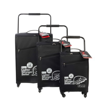 Z Frame Case Black 4 Wheel Suitcase Range
