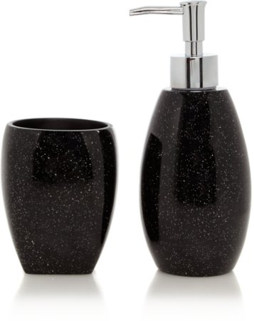 Black Glitter Bathroom Range