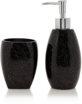 Exceptional Black Glitter Bathroom Range. Loading Zoom
