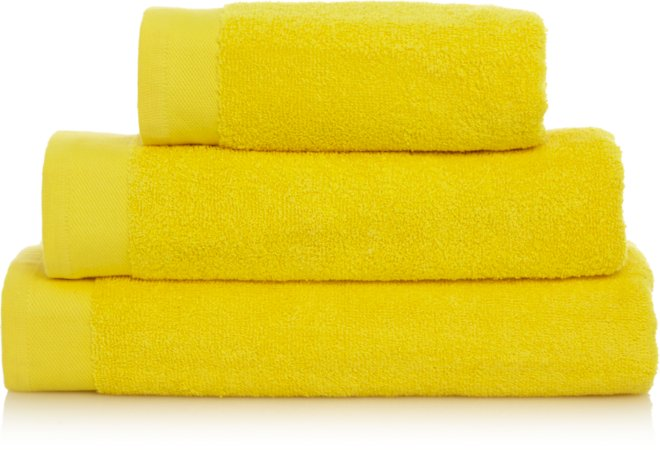 Cyber Yellow 100% Cotton Towel Range