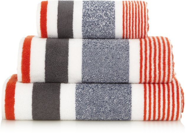 100% Cotton Stripe Towel Range
