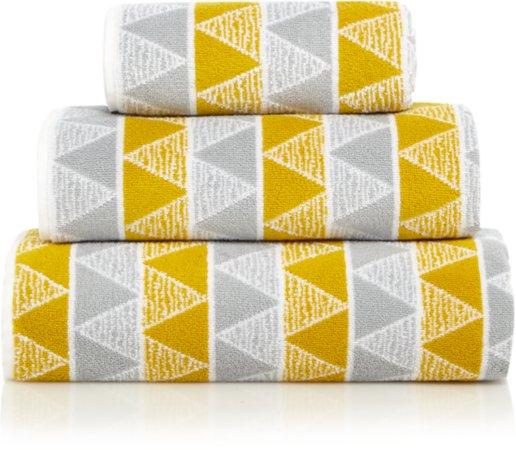 100% Cotton Geometric Towel Range