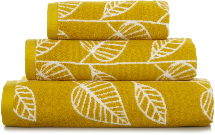 100% Cotton Mustard Leaf Towel Range