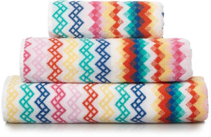 100% Cotton Bright Chevron Towel Range
