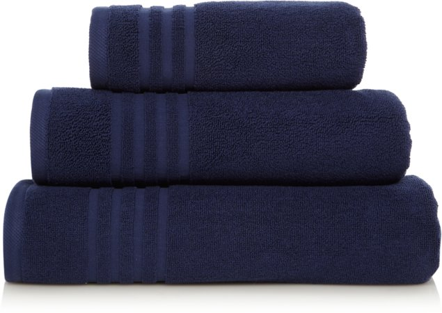 Luxury Navy Turkish Cotton Towel Range