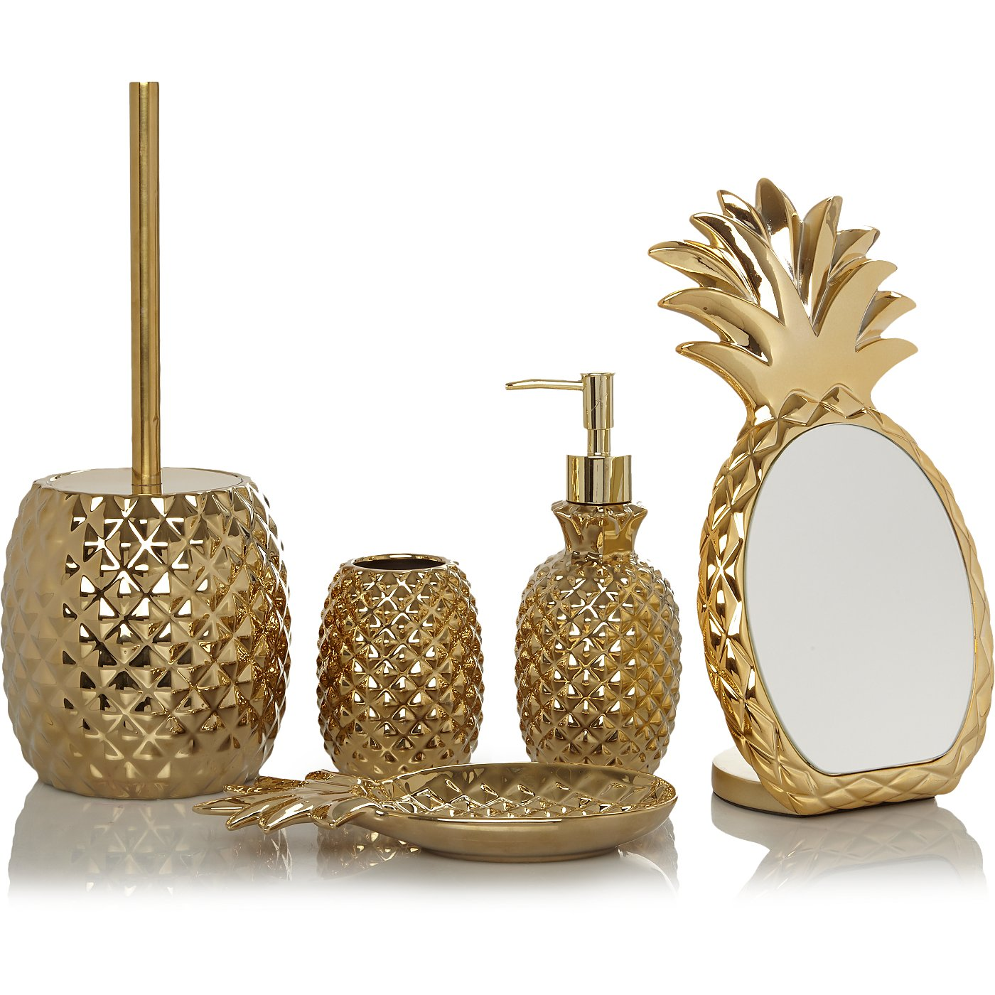 Gold Pineapple Bath Range Loading Zoom