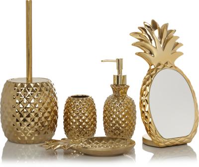 Gold Pineapple Bath Range. Loading Zoom