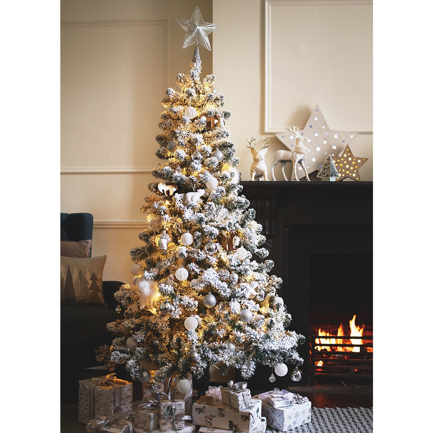 Asda Christmas Trees: White Christmas Decorations Asda