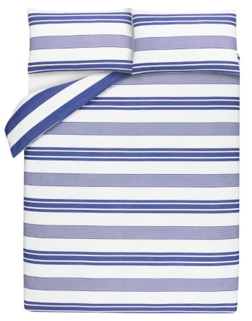 Blue Stripe Bedding Range