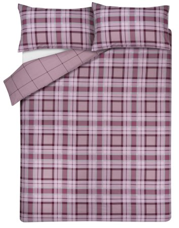 Purple Check Bedding Range