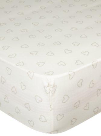 Heart Print 100% Cotton Sheet & Pillowcases Range
