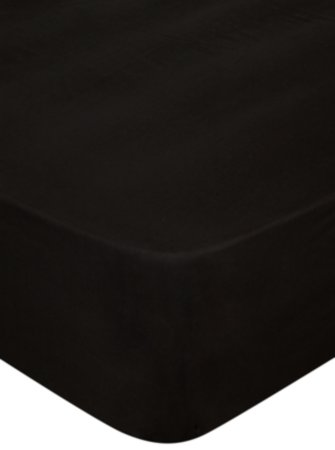 Black Flat Sheet & Pillowcases Range