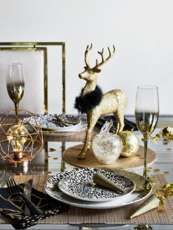 Leopard Print Christmas Table Range