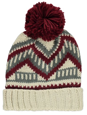 Knitted Fairisle Hat and Scarf Set