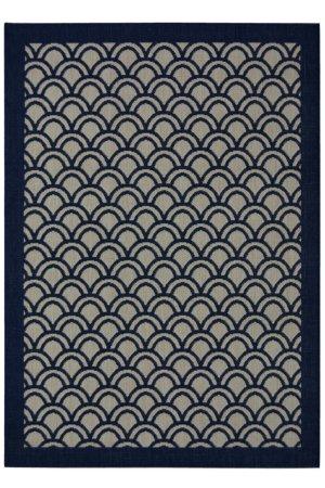 Navy Fan Rug