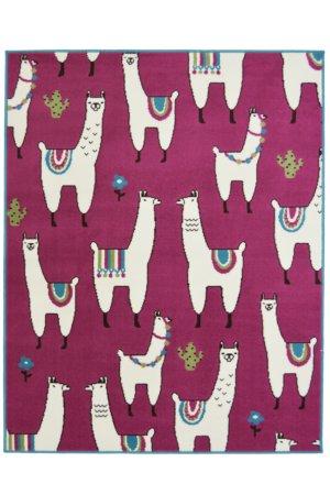 Pink Llama Rug