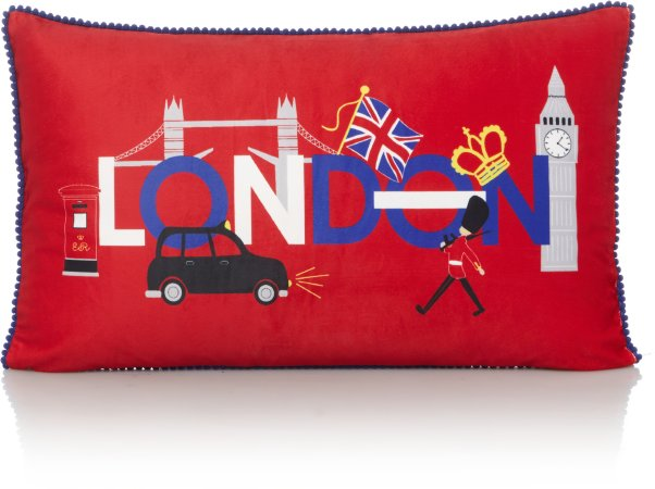 London Text Cushion