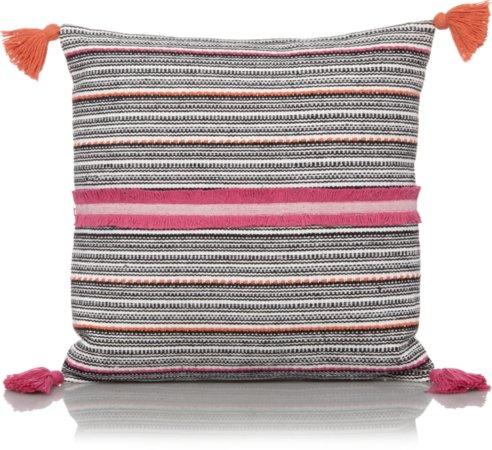 Textured Pom-pom Cushion