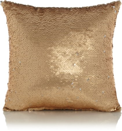 Gold Swipe Sequin Mini Cushion