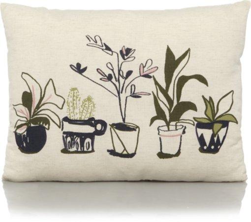 House Plants Print Cushion