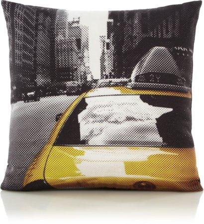 New York Print Mini Cushion