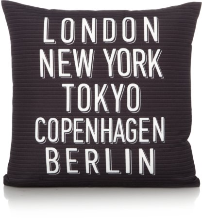 Cities Text Print Cushion