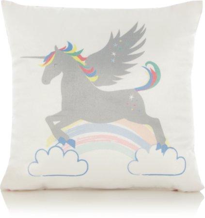 Unicorn Print Mini Cushion