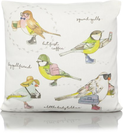 Tropical Garden Birds Print Cushion