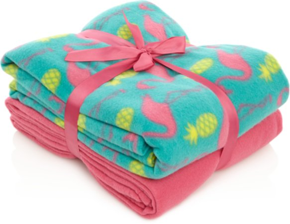Flamingo & Pineapple 2 Pack Throws