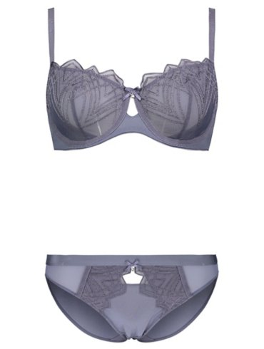 Entice Non Padded Deco Bra and High Leg Set