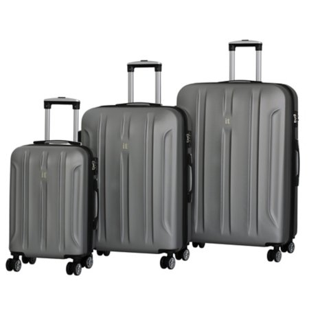 it Luggage Silver ABS Expander 8-Wheel Spinner Suitcase Range