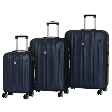 it Luggage Blue ABS Expander 8-Wheel Spinner Suitcase Range