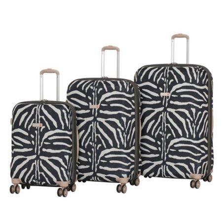 it Luggage Frameless Ionian 8-Wheel Zebra Print Suitcase Range