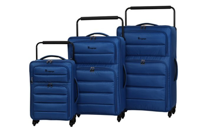 it Luggage World's Lightest 4-wheel Blue Suitcase Range