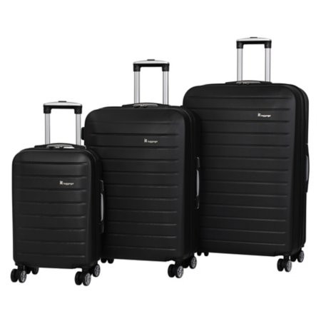 it Luggage Black ABS 8-wheel Suitcase Range