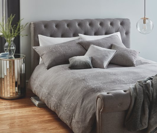 Grey Jacquard Bedding Range