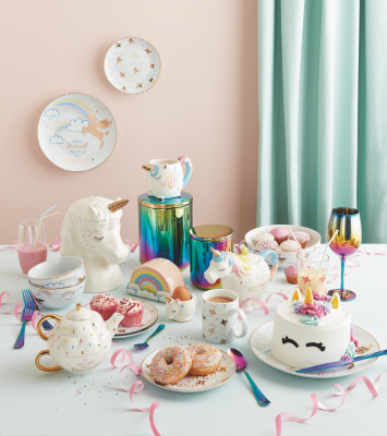 Unicorn Tableware Range. Loading zoom  sc 1 st  George - Asda & Unicorn Tableware Range | George