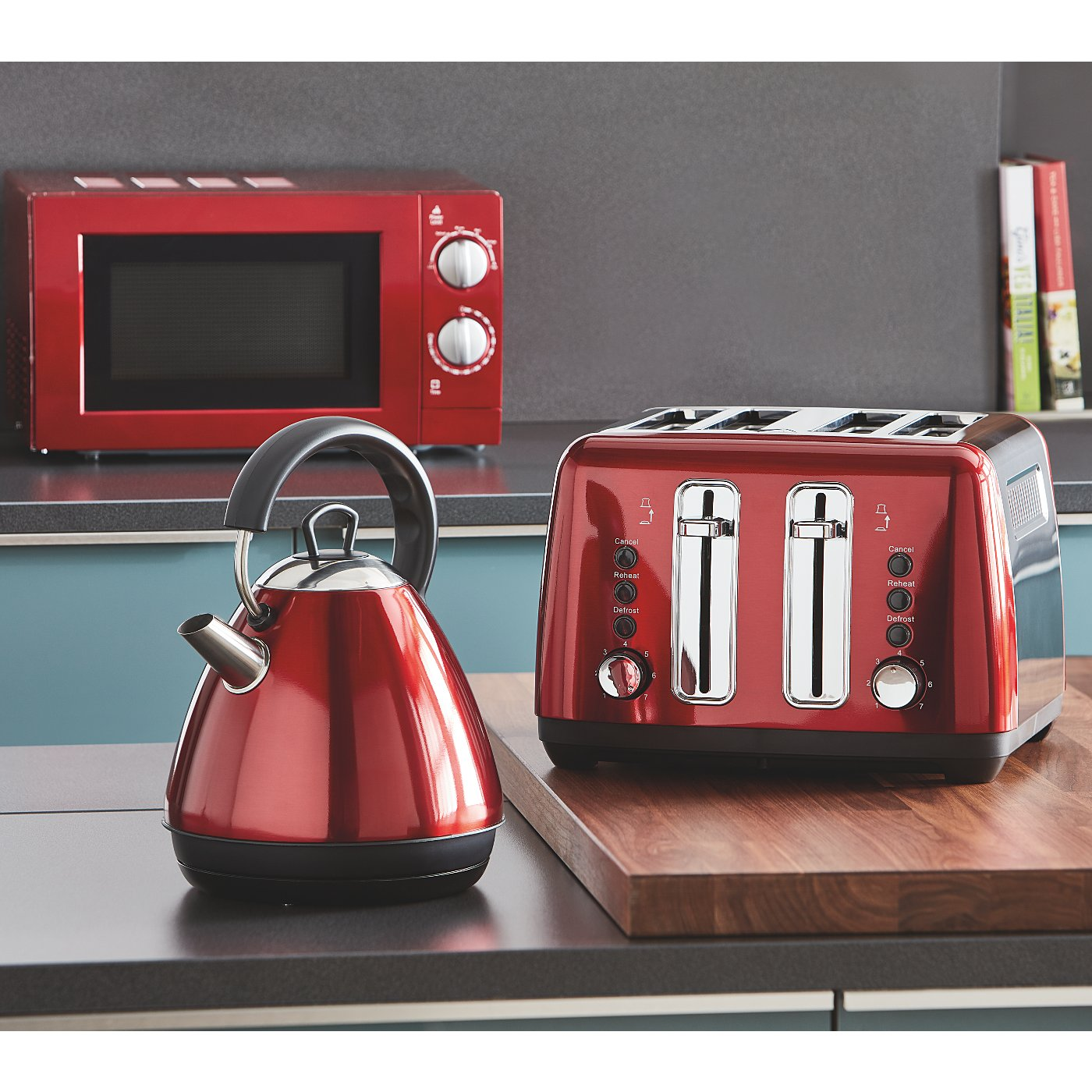 Red Kitchen Liances Range Loading Zoom