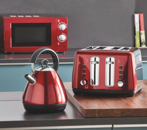 Red Kitchen Appliances Range